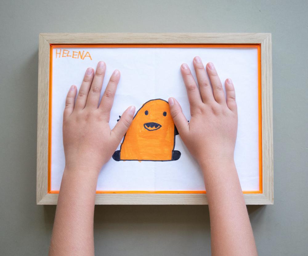 Ramme i eg, orange