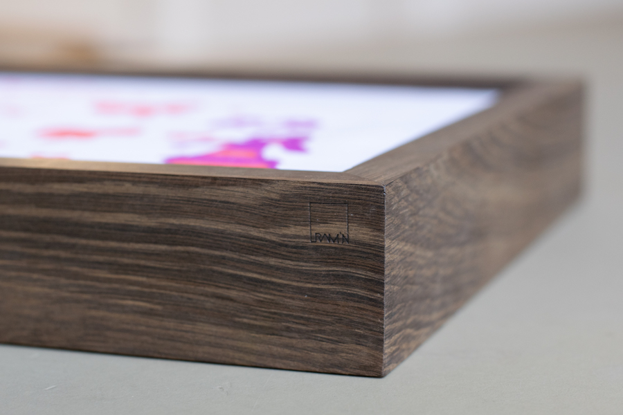 Smoked oak frame